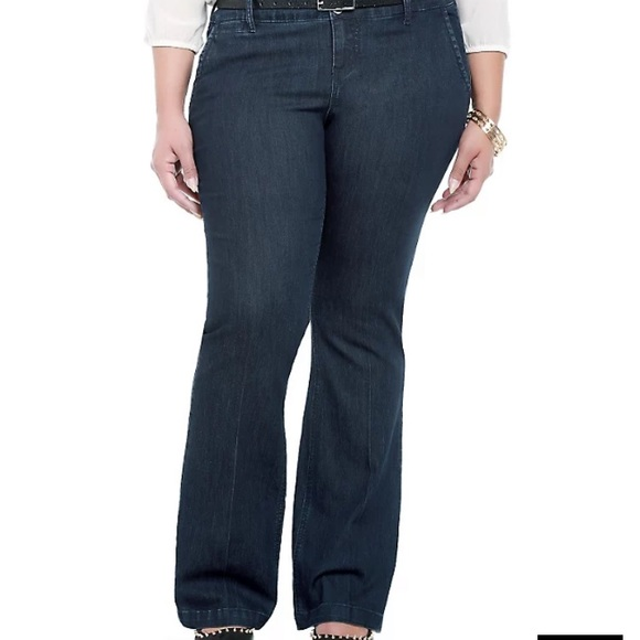 Torrid Dark Rinse Denim Trouser Jeans Pants